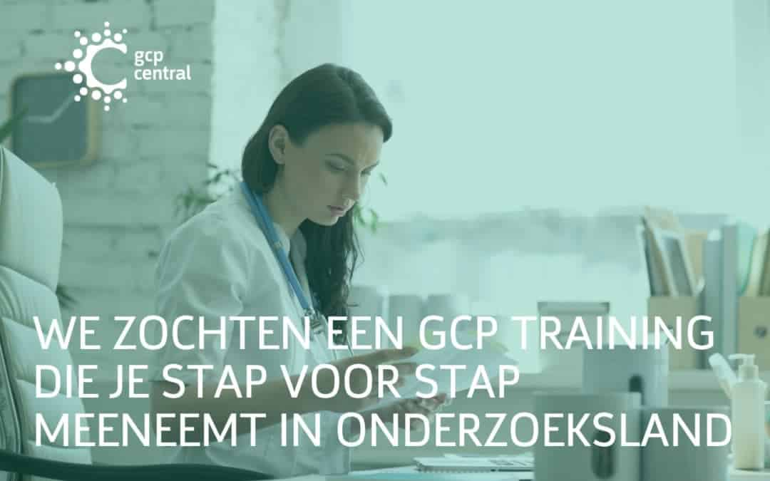 We are looking for a GCP training that takes you step by step in research land