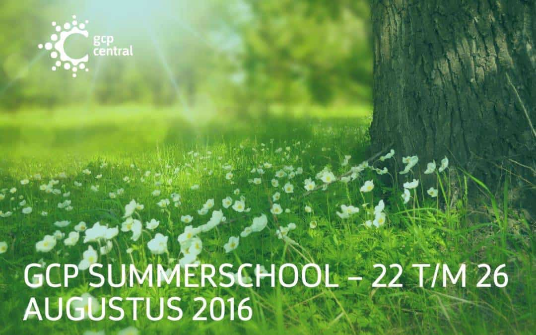GCP Summer school – 22 to 26 August 2016
