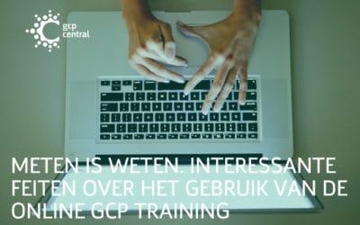 Meten is weten. Interessante feiten over het gebruik van de online GCP training