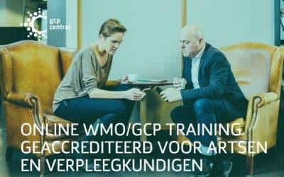 Online WMO/GCP training geaccrediteerd voor artsen en verpleegkundigen