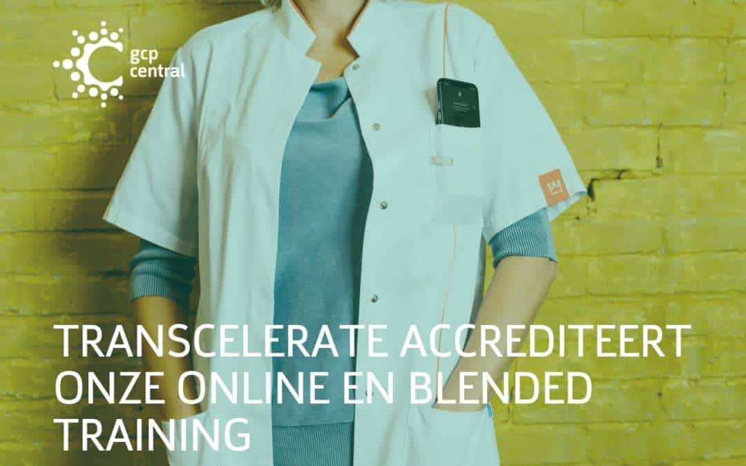TransCelerate accredits our online and blended training