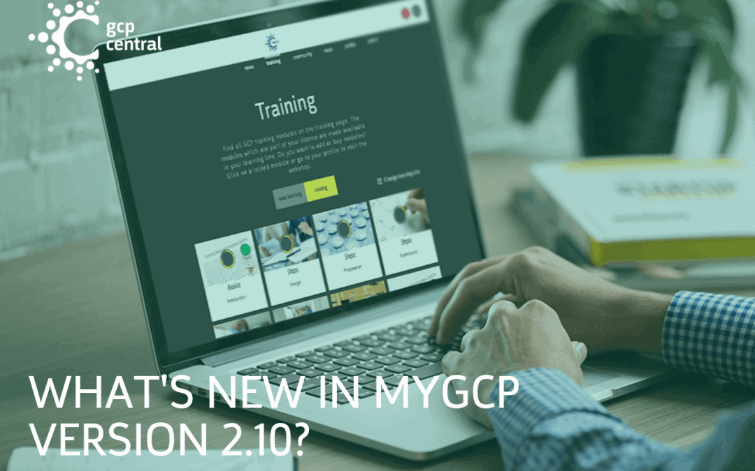 What's new in myGCP version 2.10?