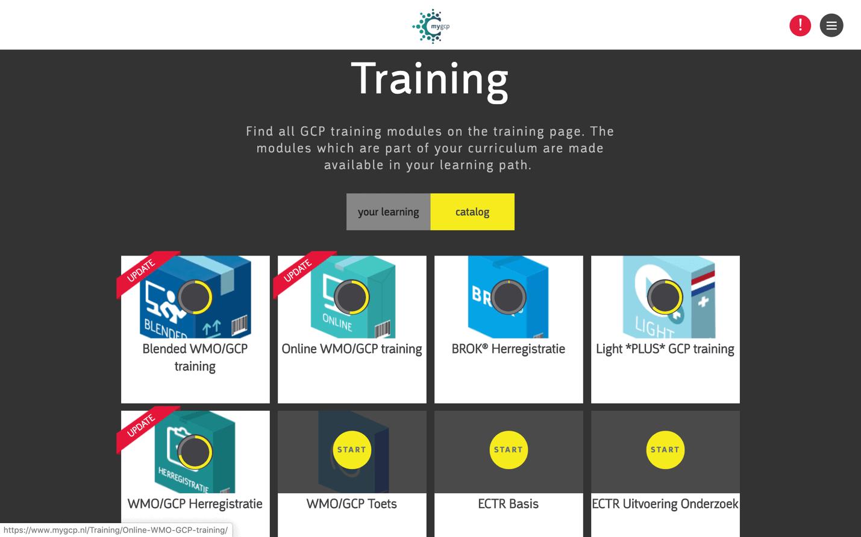 myGCP training modules