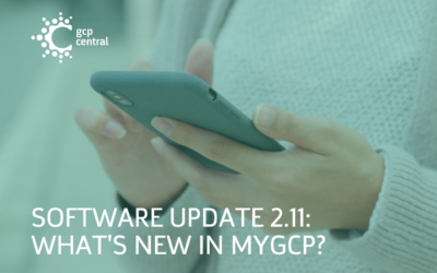 Software Update 2.11: What's New in myGCP?